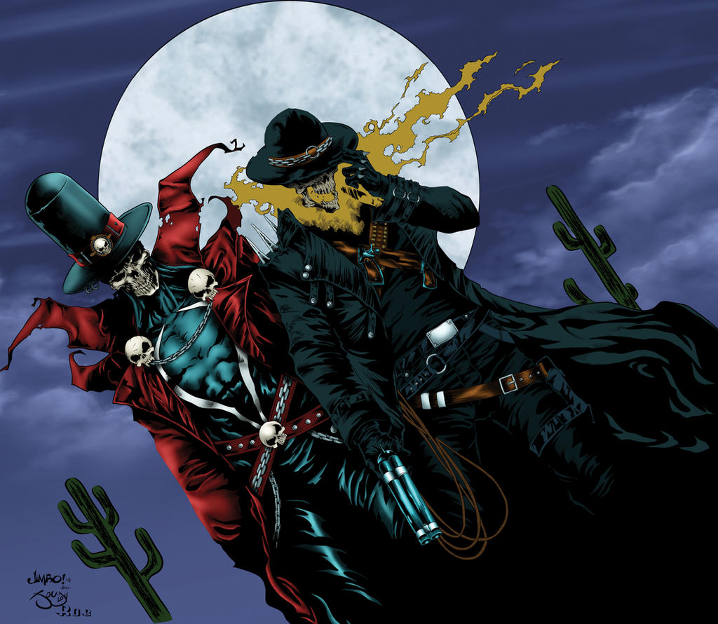 Gunslinger Spawn and Ghost Rider WIP by Ta2dsoul on DeviantArt