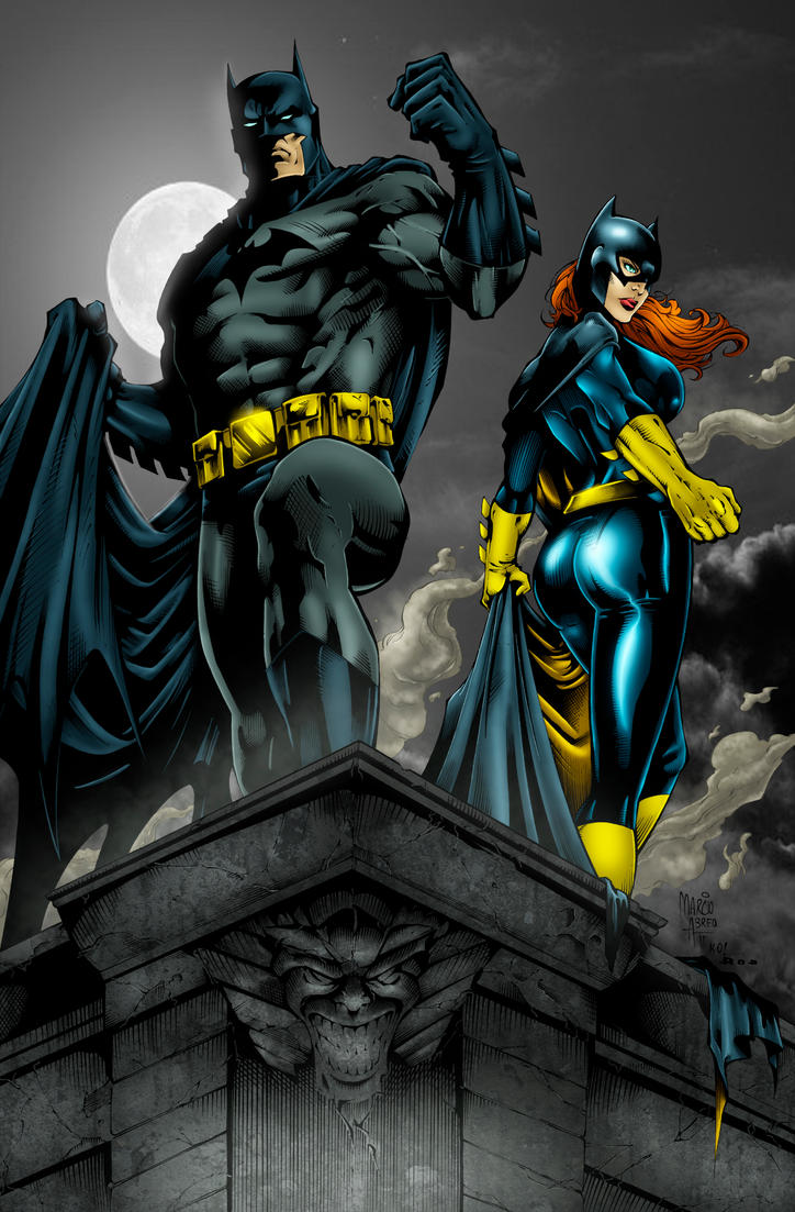 Batman and Batgirl by Ta2dsoul