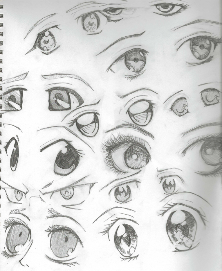 Anime eyes pencil by the orange ribbon