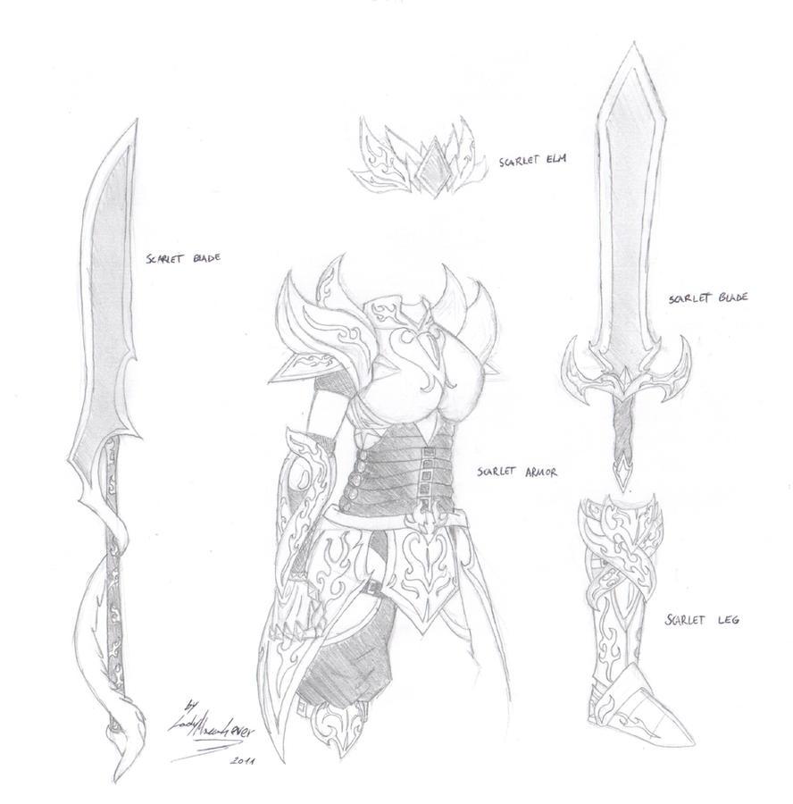 Scarlet Armor by EdoRoku