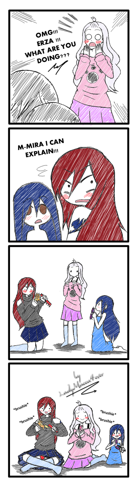 Omg erza what are you doing by edoroku on deviantart