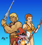 He-man, Teela and Orco
