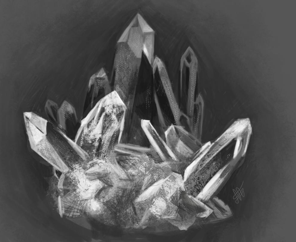 Crystal Cluster by Nyffetyff