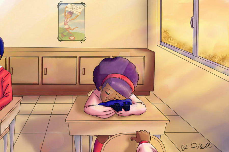 Was up late by Divina-H-ART