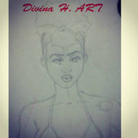 Pin up girl sketch by Divina-H-ART