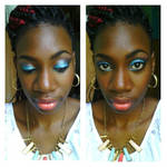 Aquamarine Eyes On Dark Skin