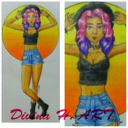 Summer goth girl by Divina-H-ART