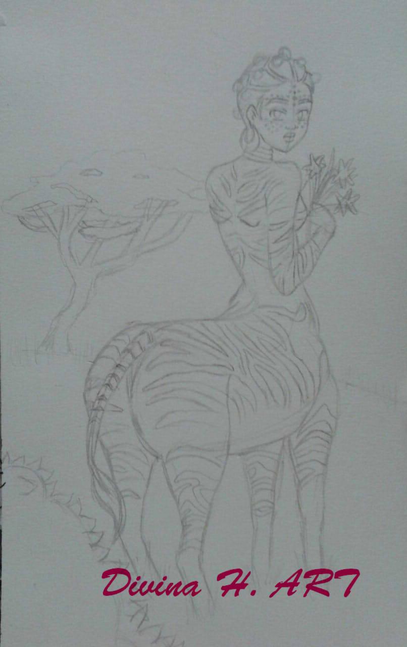 Centaur sketch by Divina-H-ART
