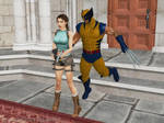 OMG ! Wolverine killed Lara Croft