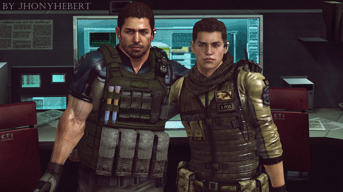 Chris Redfield and Piers Nivans Friends by JhonyHebert