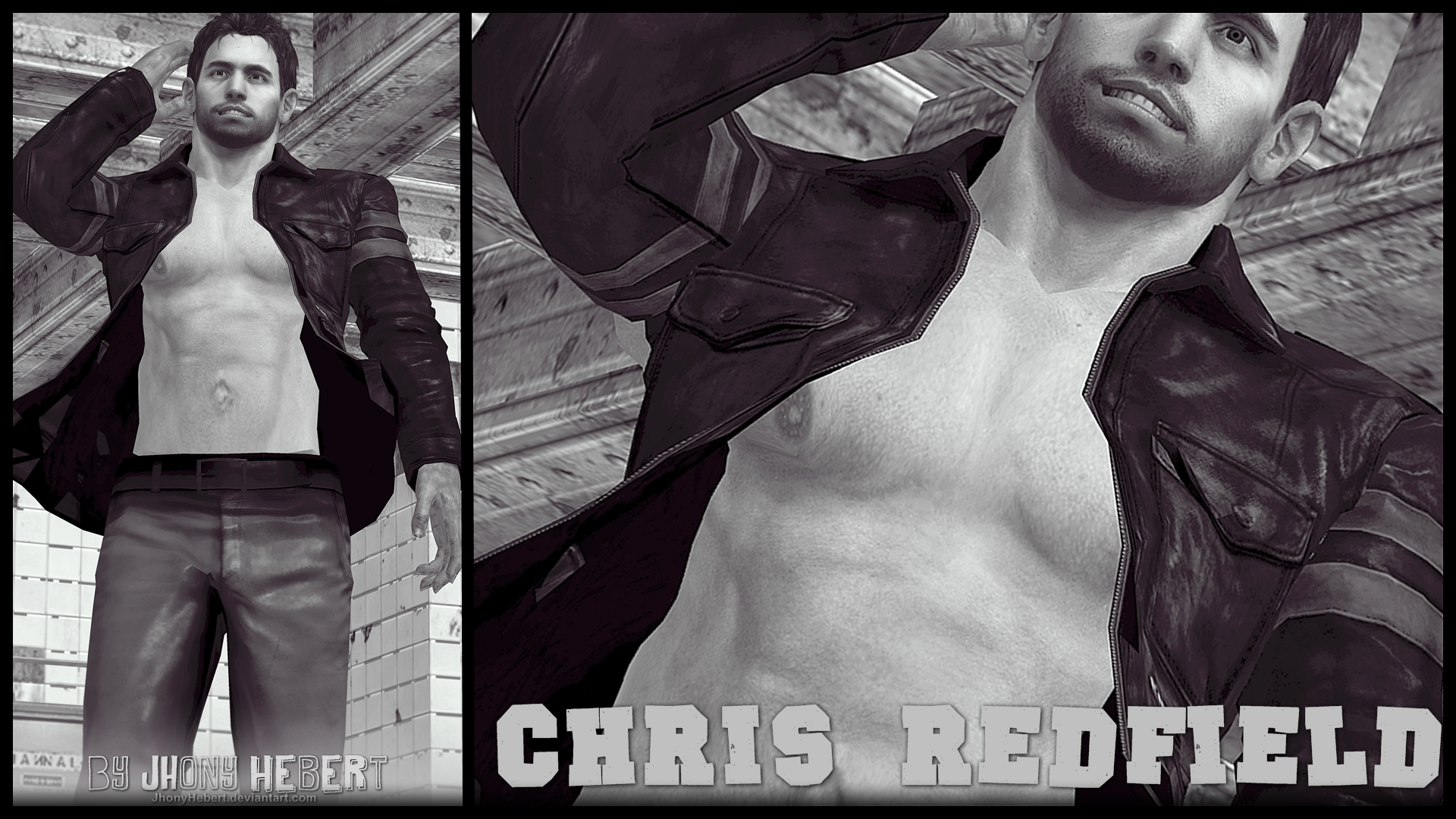 Chris Redfield Shirtless by JhonyHebert