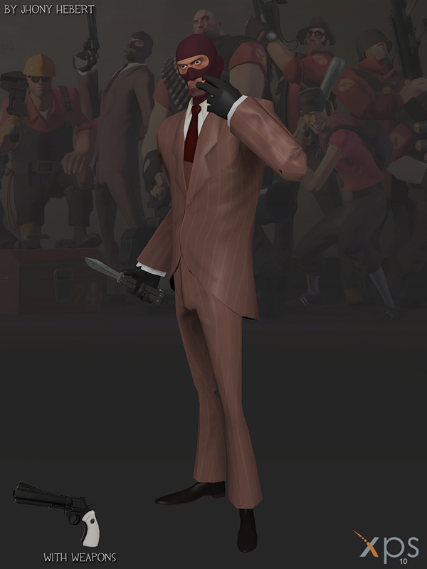 Spy - Team Fortress 2 (Blue and Red) by JhonyHebert