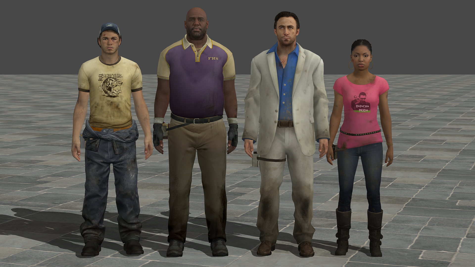 Left 4 Dead 2 Models XNALara (W I P) Ready by JhonyHebert on DeviantArt
