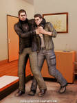 Chris Redfield and Piers Nivans