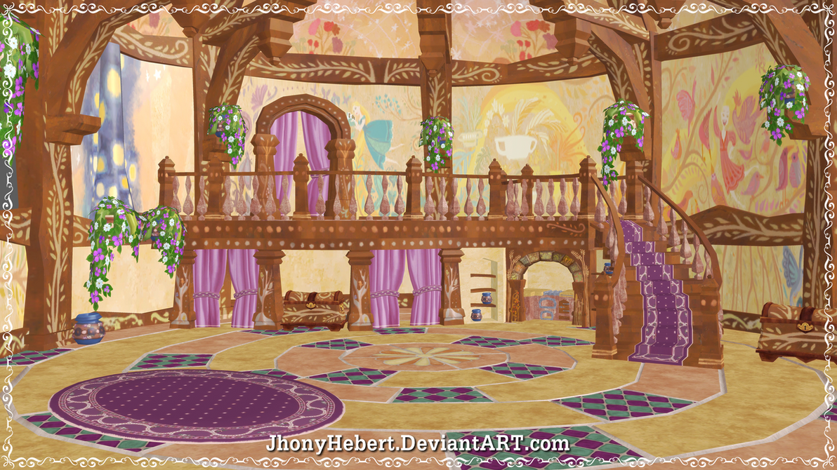 Tangled - Room Rapunzel's by JhonyHebert