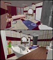 Hotel Bathroom - Memento Mori 2 by JhonyHebert