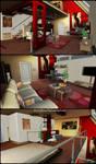 Living Room and Bedroom - Memento Mori 2