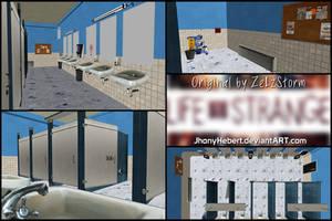 Bathroom School - Life Is Strange by JhonyHebert