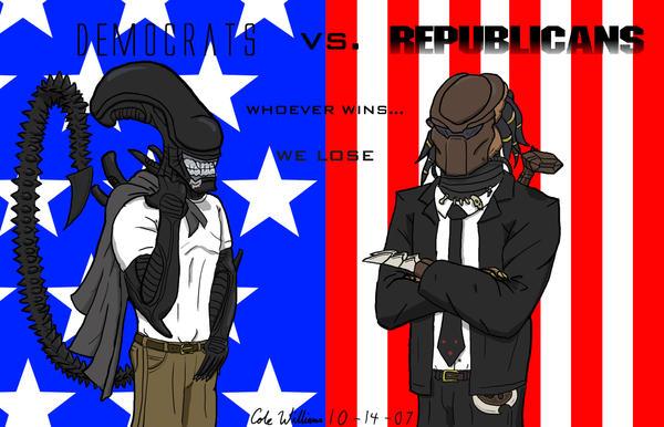 AVP: Democrats vs. Republicans by cwgodzilla