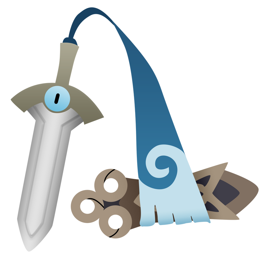 Pokemon X Y Honedge Unsheathed Vector by firedragonmatty