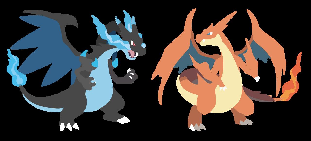 Mega Charizard X and Y - Pokemon X Y Vector by firedragonmatty