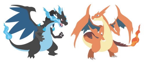 Mega Charizard X and Y - Pokemon X Y Vector