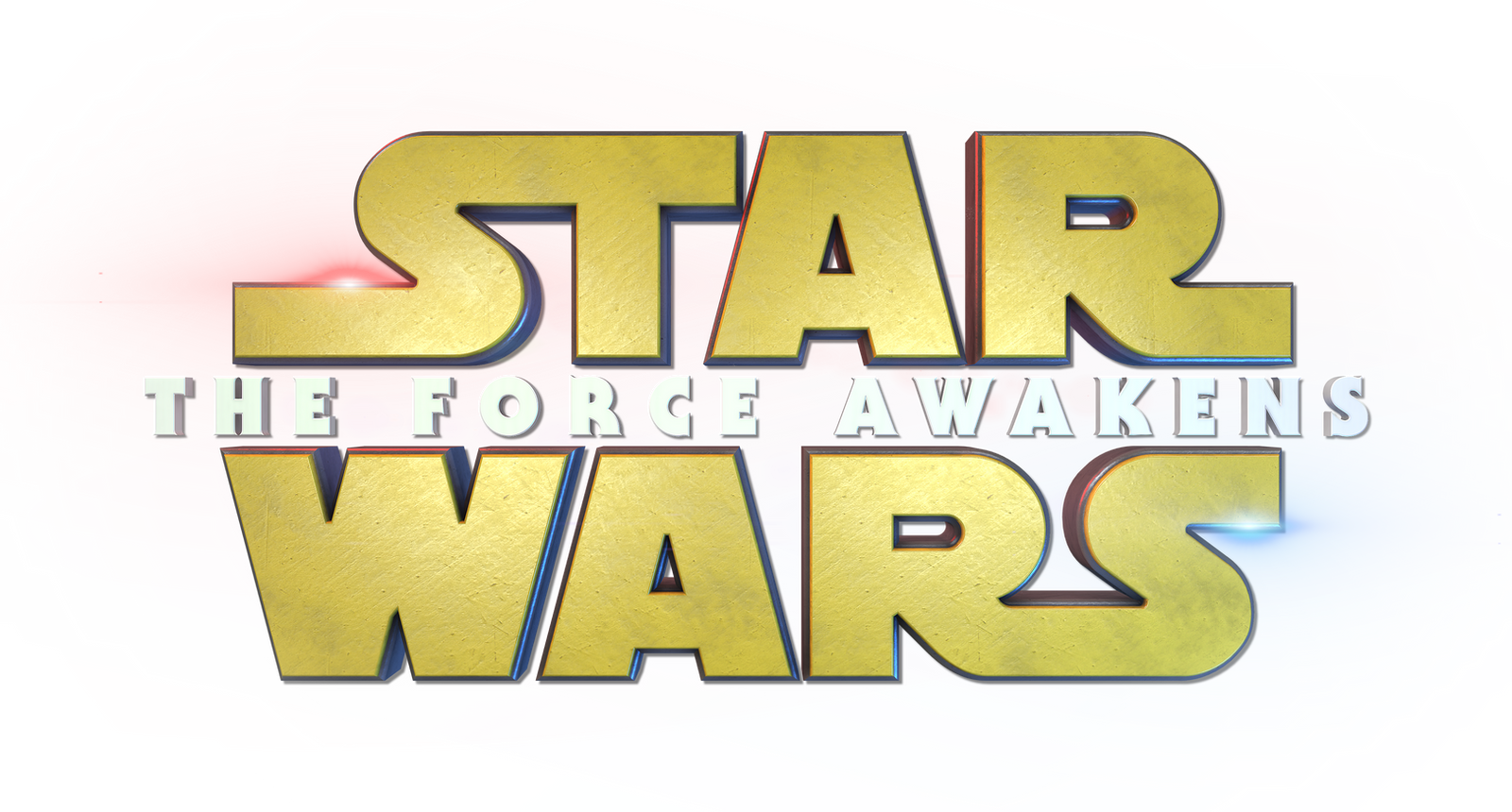 Star Wars : The Force Awakens - Title Logo 3D 4K