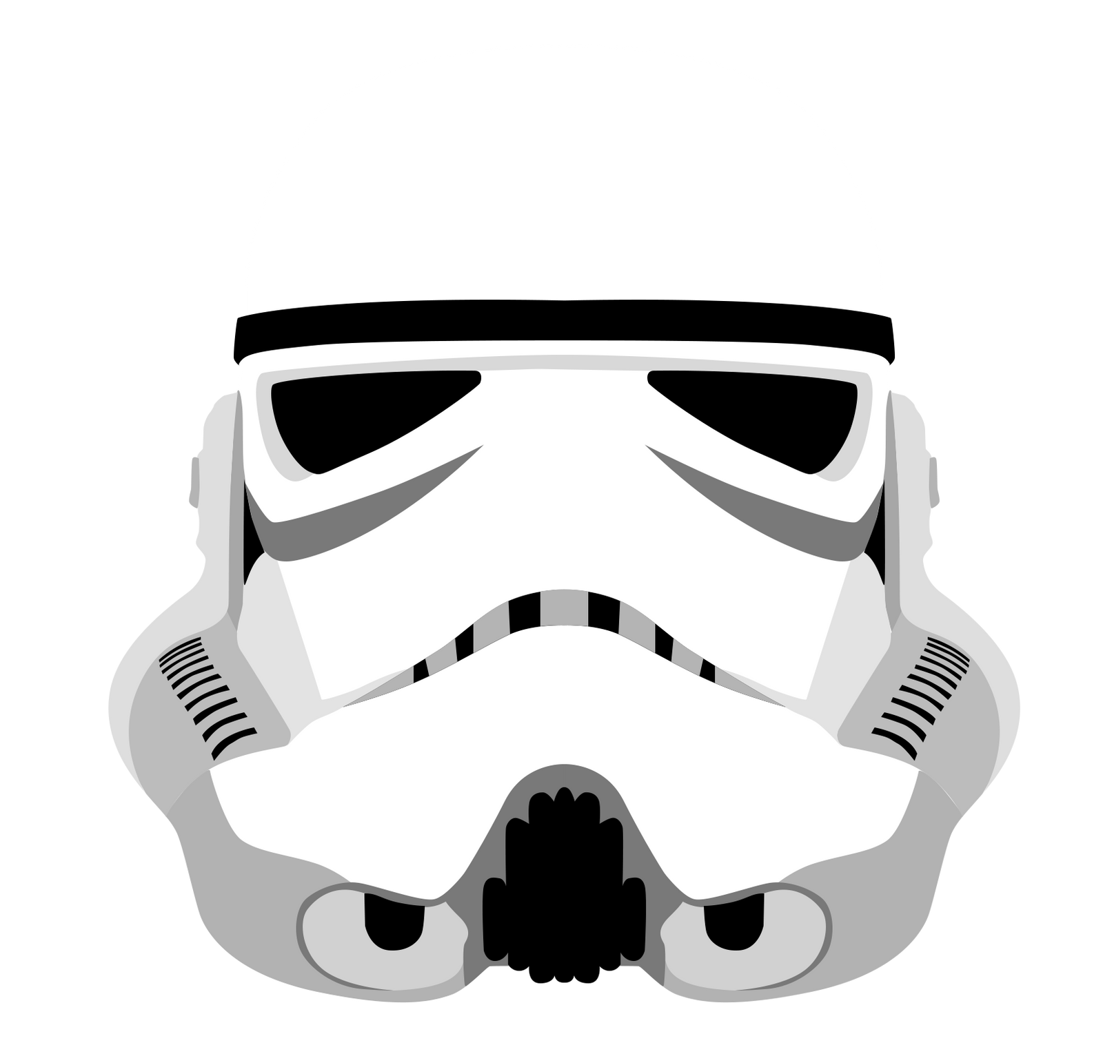 Stormtrooper Helmet - Star Wars Vector by firedragonmatty ...