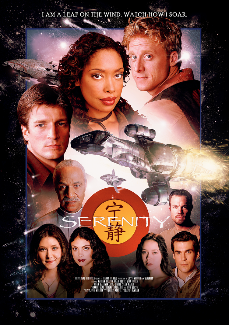 Cast signed movie posters serenity