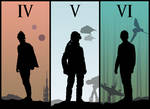 Evolution of Luke Skywalker - Star Wars Vector