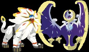Pokemon Sun and Moon Legendaries - Vector Art