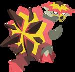 Pokemon Sun and Moon : Tortunator - Vector Art