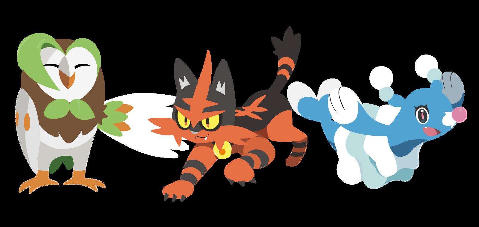 sun and moon pokemon starters