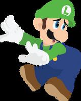 Luigi - 09 : Smash Bros Ultimate - Vector Art by firedragonmatty