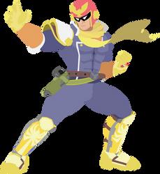 Captain Falcon - 11 : Smash Bros Ultimate - Vector by firedragonmatty