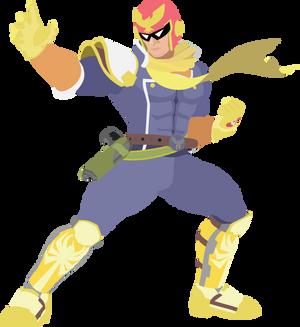 Captain Falcon - 11 : Smash Bros Ultimate - Vector