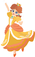 Daisy - 13e : Smash Bros Ultimate - Vector Art by firedragonmatty