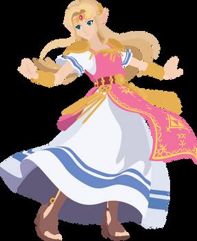 Zelda - 17 : Smash Bros Ultimate - Vector Art