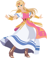 Zelda - 17 : Smash Bros Ultimate - Vector Art by firedragonmatty