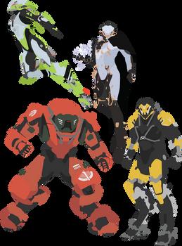 Anthem - All 4 Javelins Vector Art