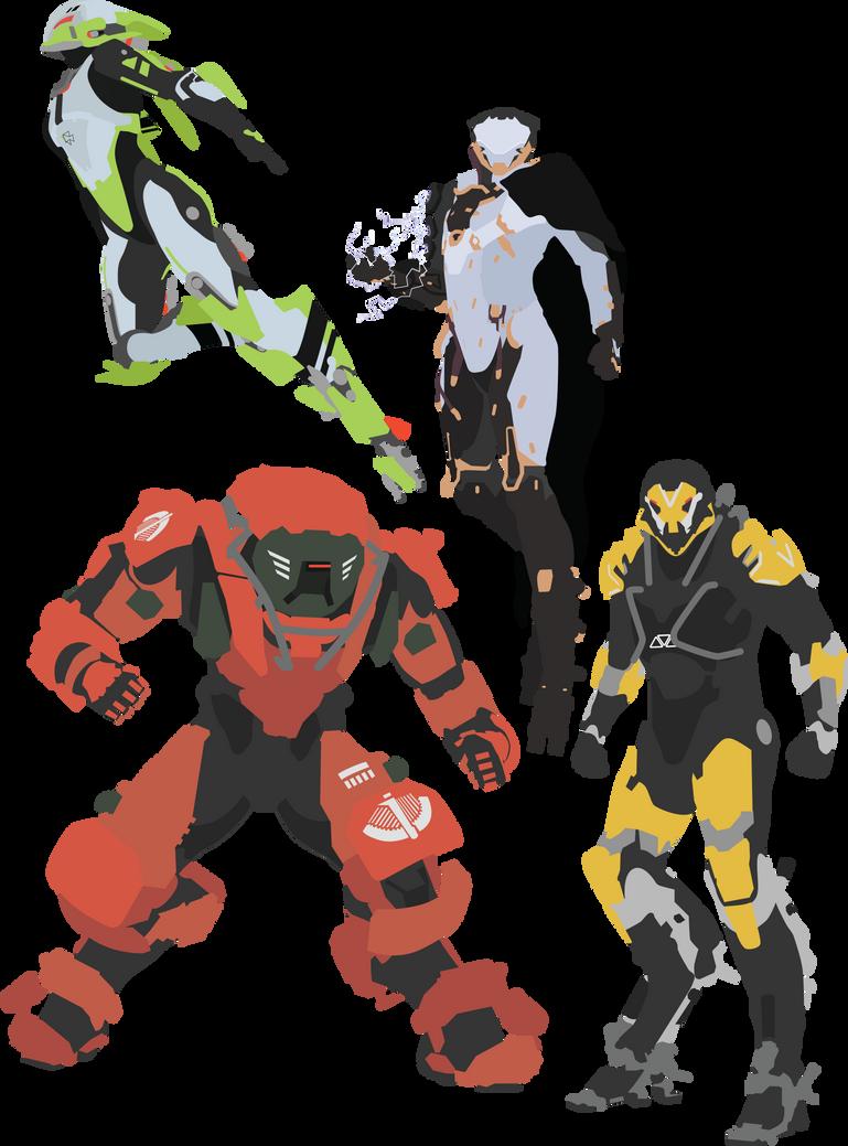 Anthem - All 4 Javelins Vector Art by firedragonmatty