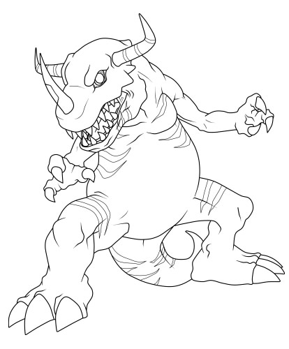 digimon weregarurumon coloring pages-#24