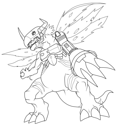 new digimon coloring pages - photo#46