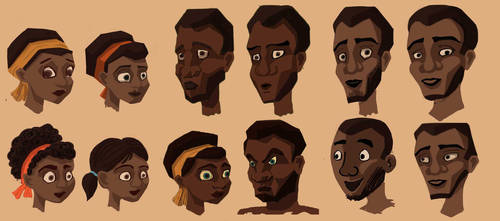 Character Sheet Humans - Hunted by PiratePrincessElayne