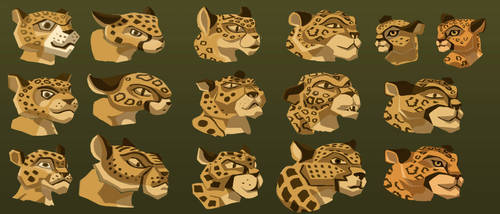 Character Sheet Leopards - Hunted by PiratePrincessElayne