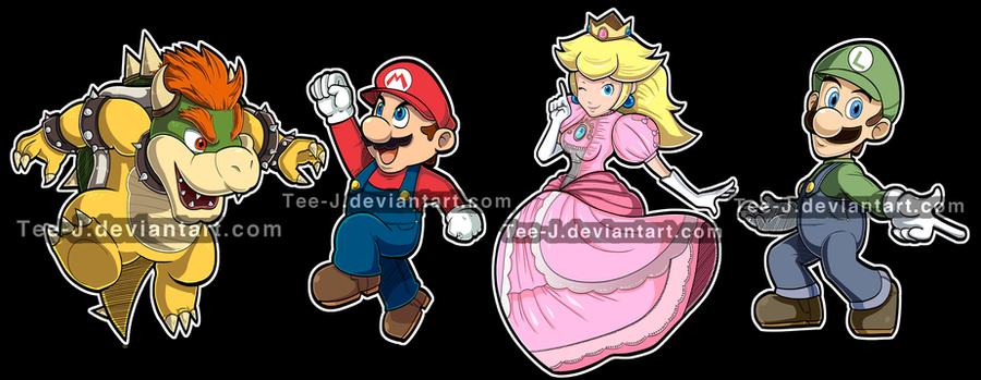 Smash Stickers: Mario Set by Tee-J