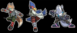 Smash Stickers :StarFox Set