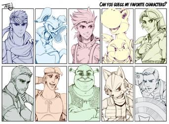 Favorite Characters Meme 2.0 by Tee-J