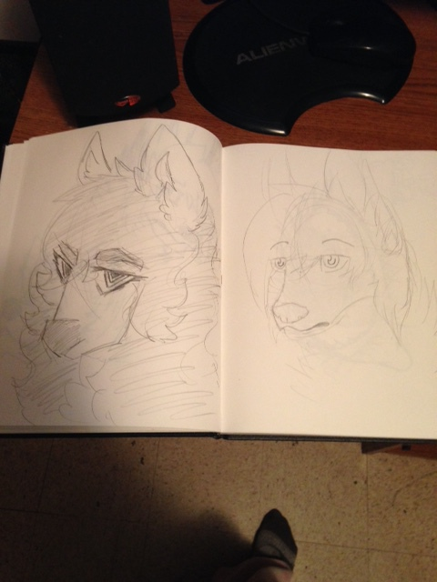 Re-draw #3 by kiecothewolf03