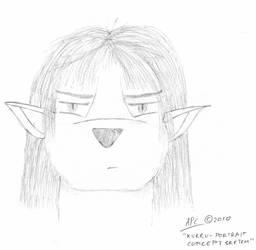 Kurru: Portrait Concept Sketch by cullsoft